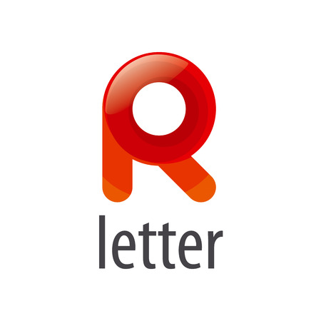 r image: colorful abstract vector letter R Illustration
