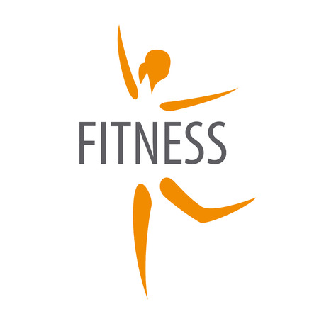 gimnasia aerobica: Vector de la insignia de la bailarina de club de fitness