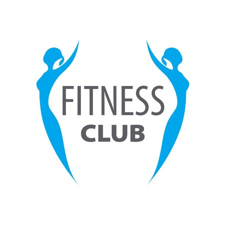 two girls: vector  of two girls for fitness club