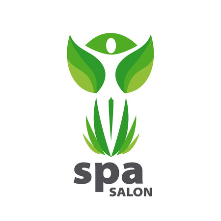 Green vector logo for Spa salon