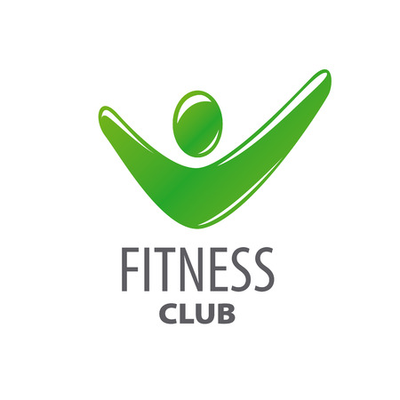 fitness center: abstract green vector logo for fitness center