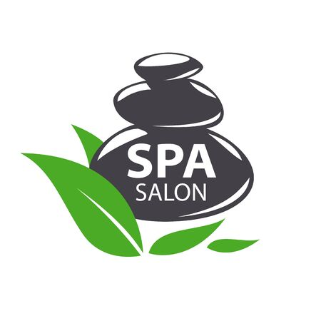 spa salon: vector logo stones for spa salon