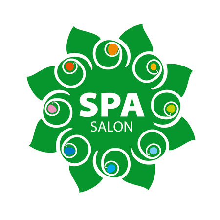 salon and spa: abstract floral vector for Spa salon
