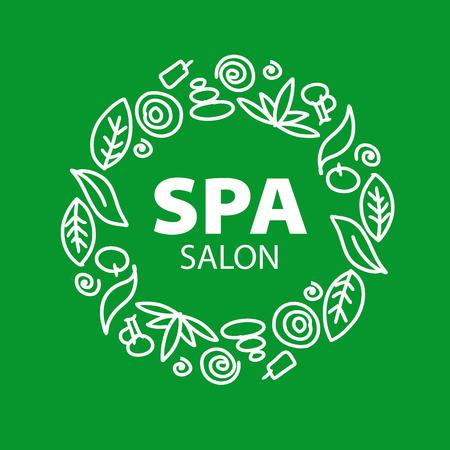 flower icon: Round vector for Spa salon