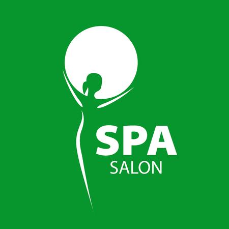 salon: vector girl and a circle for the spa salon Illustration