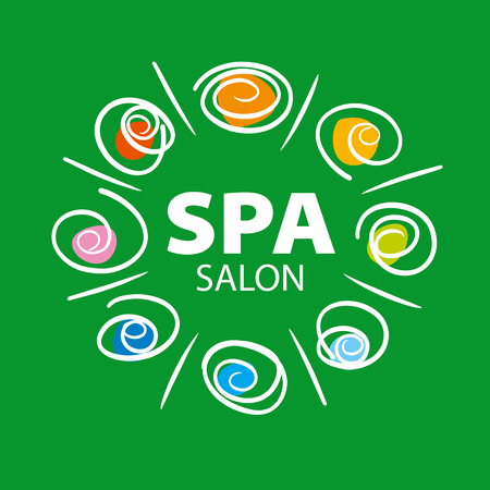 harmony idea: plant vector for Spa salon on a green background Illustration