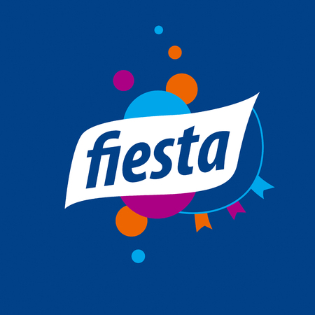 vector abstract for the fiesta on a blue background