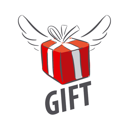 red gift box: vector red gift box with wings