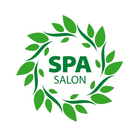 spa salon: Round vector for Spa salon