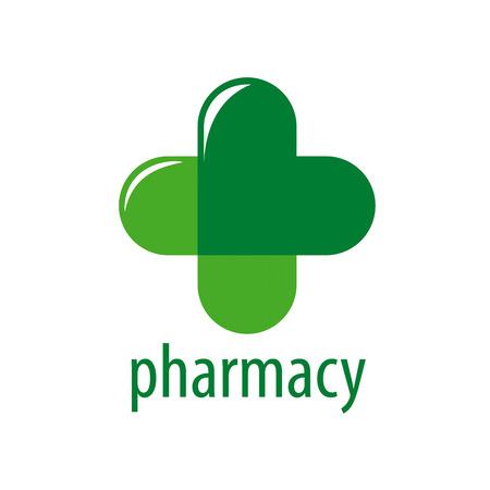 green cross: Abstract vector logo Green Cross Pharmacy Illustration