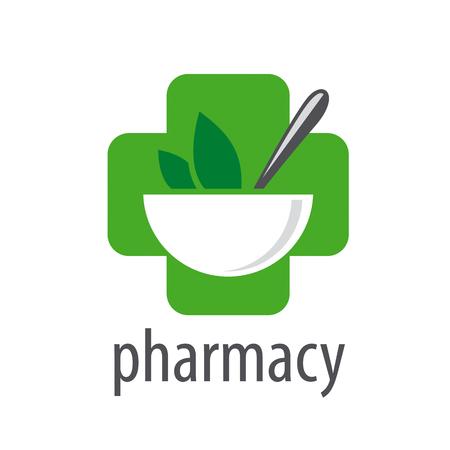 simbolo medicina: logo vector para las farmacias en un fondo blanco