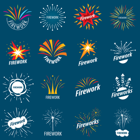 fourth birthday: biggest collection of vector for fireworks
