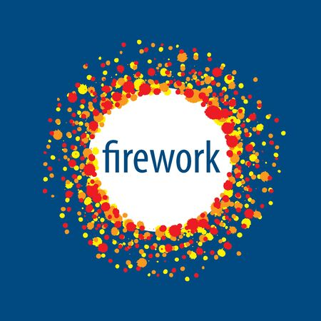 Abstract celebratory vector  for salutes and fireworks