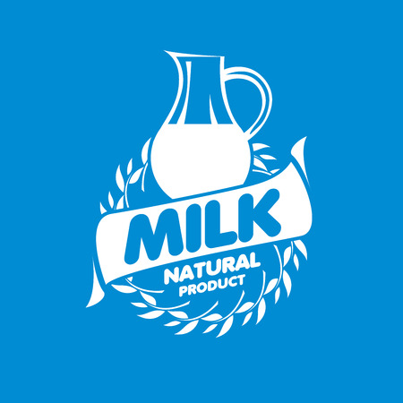 Universal graphic vector for natural dairy products Illustration