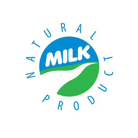 dairy: Universal graphic vector logo for natural dairy products