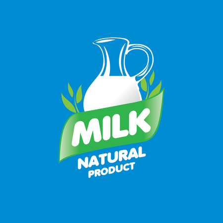 dairy: Universal graphic vector for natural dairy products Vectores