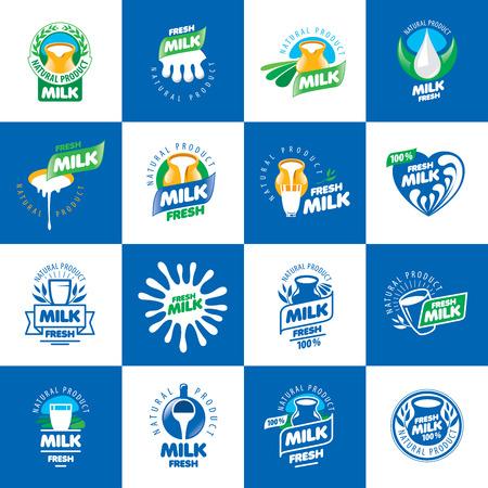 productos naturales: Gráfico vectorial universal para los productos lácteos naturales