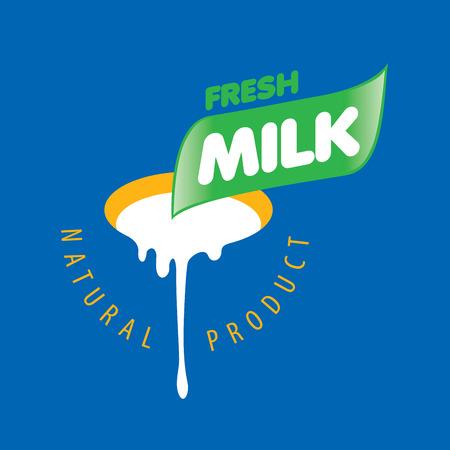 lacteos: Gráfico vectorial universal para los productos lácteos naturales