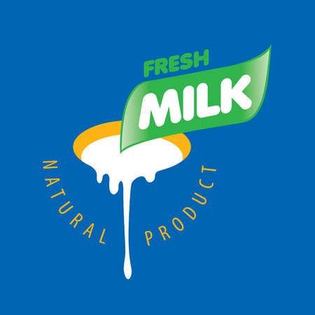 Universal graphic vector for natural dairy products