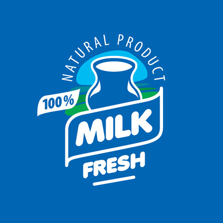 Universal graphic vector for natural dairy products 일러스트