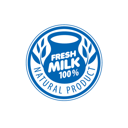 dairy products: Universal graphic vector for natural dairy products Illustration