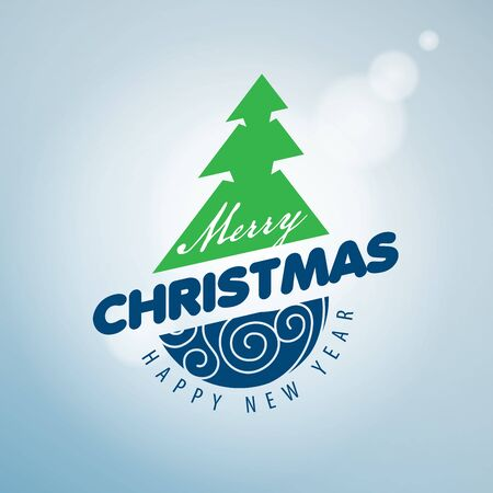 event: Abstract for Merry Christmas and New Year Illustration
