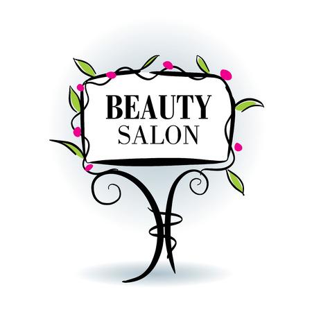 cosmetician: flowers design for spa, boutique, beauty salon, cosmetician Illustration
