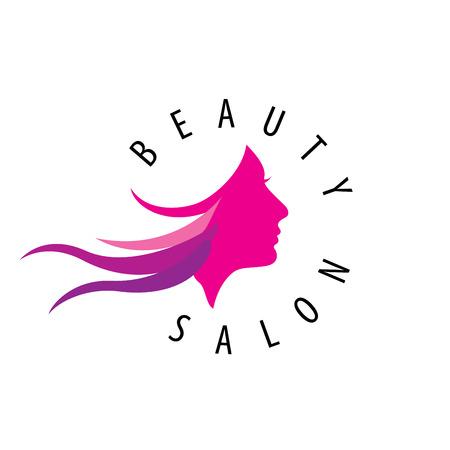 美容女性顔ロゴ Design.Cosmetic サロンのロゴデザイン。創造的な女性の顔のベクトル
