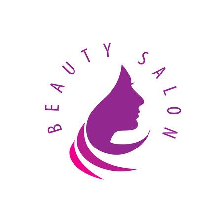 salon background: Beauty Female Face Logo Design.Cosmetic salon logo design. Creative Woman Face Vector Illustration