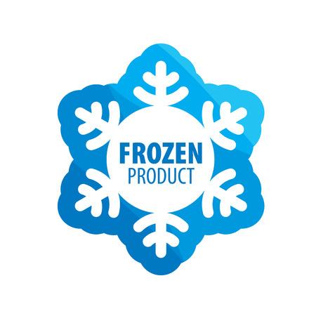 Vector logo abstracto para los productos congelados. Elemento de diseño