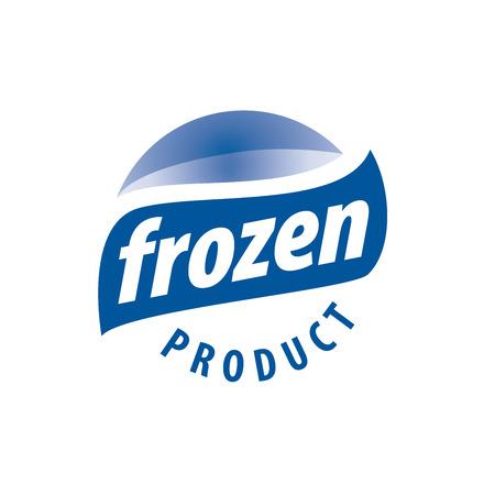 alimentos congelados: Vector logo abstracto para los productos congelados. Elemento de diseño Vectores