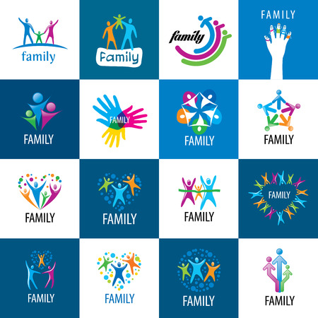 set of vector signs for the family and the union people