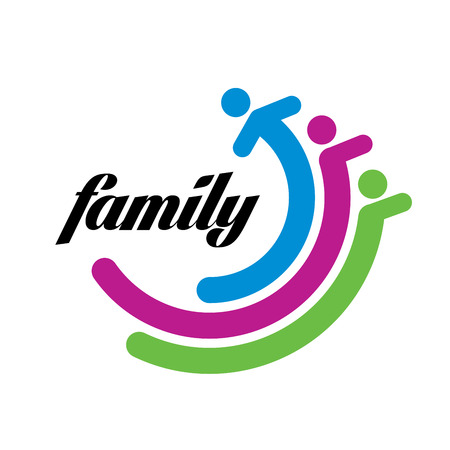 abstract vector sign for the family and the union people