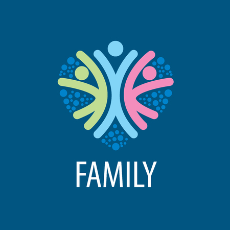 heart icon: abstract vector sign for the family and the union people