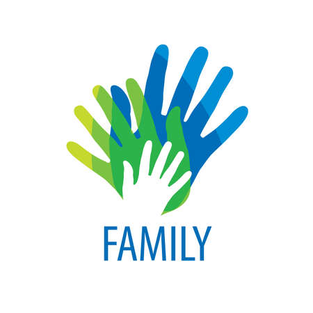 business support: abstract vector sign for the family and the union people