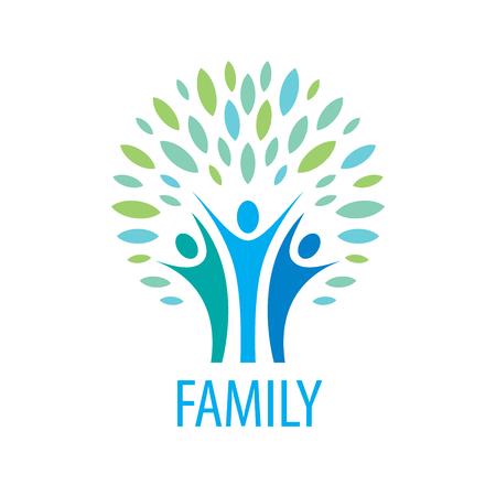 deportes colectivos: signo vector abstracto para la familia y la gente del sindicato Vectores