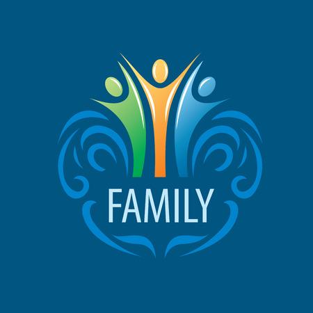 Signo vector abstracto para la familia y la gente del sindicato Foto de archivo - 49366240