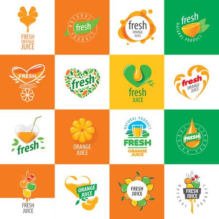 ikona wektor świeży sok z naturalnych produktów