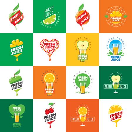 succo di frutta: icone vettoriali succo fresco da prodotti naturali
