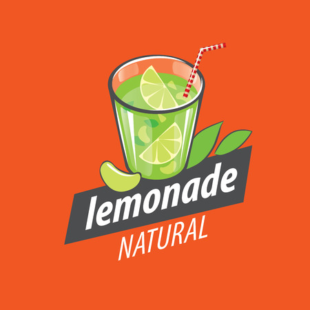 glassful: Vector icon for drinks and lemonades citrus Illustration