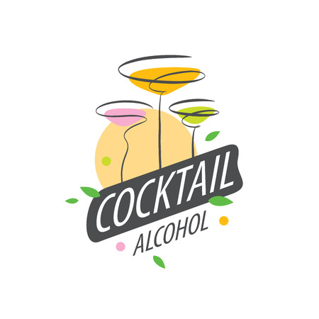 tonic: vector icons of alcoholic drinks by the glass