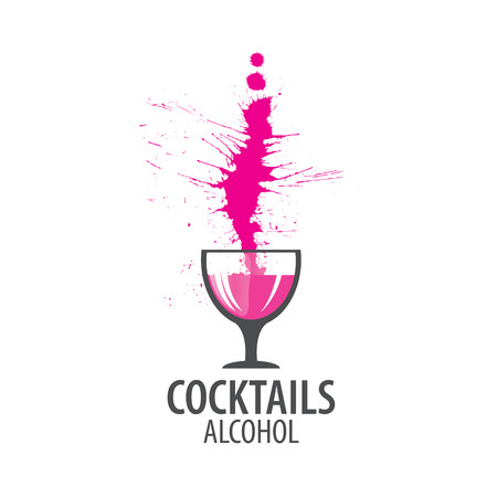 tropical drink: vector icons of alcoholic drinks by the glass
