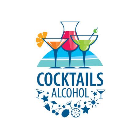 bebidas alcohÓlicas: vectores iconos de las bebidas alcohólicas por copa Vectores