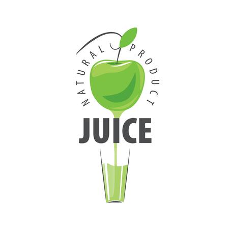glassful: vector icon fresh juice from natural products Illustration