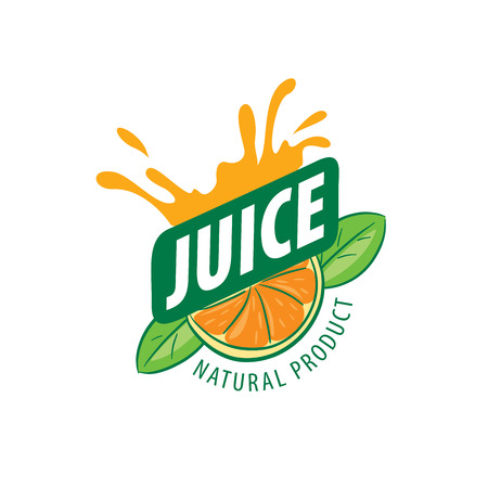 orange juice: vector icon fresh juice from natural products Illustration