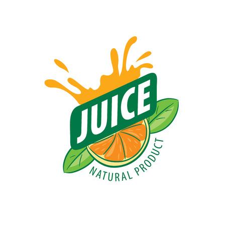 Vektor-Symbol frischen Saft aus natürlichen Produkten