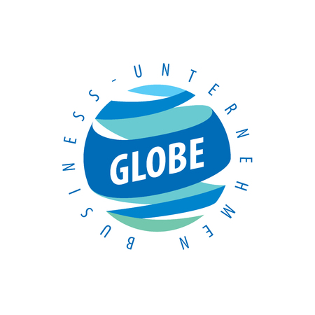 Template vector abstract Earth logo. Globe sign
