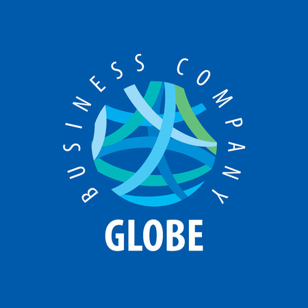 globe logo: Template vector abstract Earth logo. Globe sign