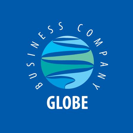 earth logo: Template vector abstract Earth logo. Globe sign