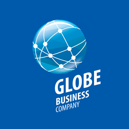 Szablon wektor streszczenie logo Ziemi. Globe znak Logo